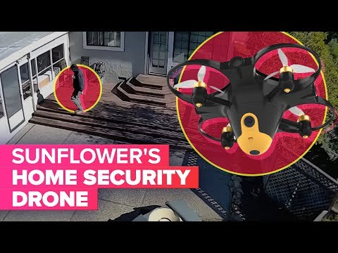 Sunflower's home security drone spots trespassers